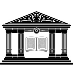 ancient hellenic school vector image