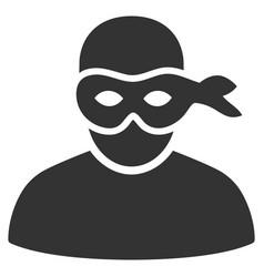 Anonimious thief icon vector