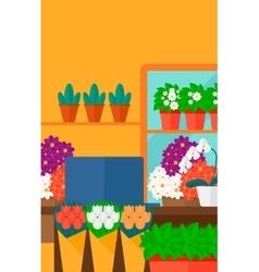 Background of flower shop vector
