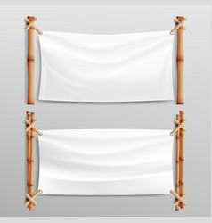 Bamboo frame with realistic paper background for vector