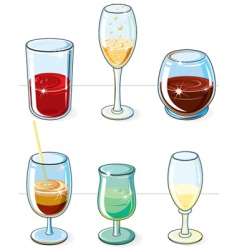 beverages set vector image vector image