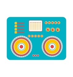 big blue stereo graphic vector image