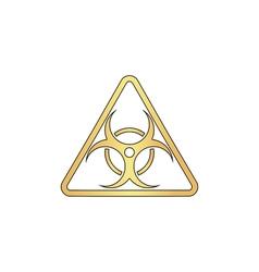 Biohazard computer symbol vector