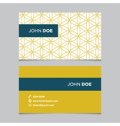 business card pattern yellow 11 vector image