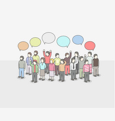 business social networking and communication vector image