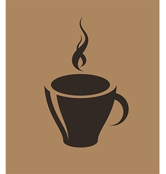 Coffee cup with steam vector