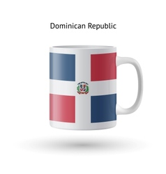 Dominican republic flag souvenir mug on white vector
