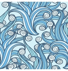 Doodle Swirls Seamless Pattern vector image vector image