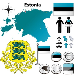 Estonia ma vector image