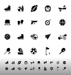 Extreme sport icons on white background vector
