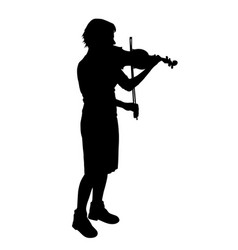Female playing violin vector
