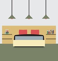 Flat Design Double Bedroom vector image vector image