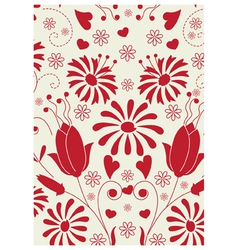 Floral love pattern vector image vector image