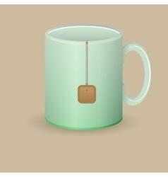 green tea mug vector image