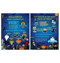 Halloween holiday celebration traditions poster vector