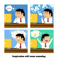 Inspiration will come vector image vector image