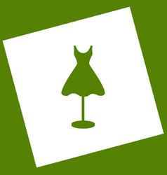 Mannequin with dress sign white icon vector