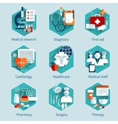 Medical concepts set vector