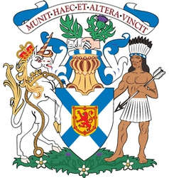 Nova scotia coat-of-arms vector