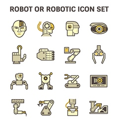 Robot or robotic vector image