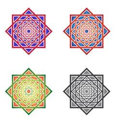 Set MandalasSquare Ornaments vector image vector image