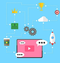 Video marketing strategy relation background vector