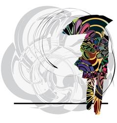 woman with umbrella vector image vector image