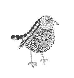 Zentangle stylized baby chick vector image vector image