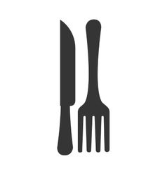Fork knife silverware icon graphic vector