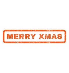 Merry xmas rubber stamp vector