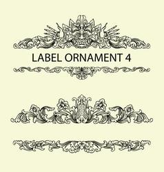 Label ornament 4 vector image