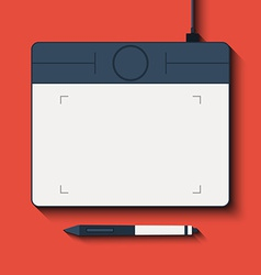 Isolated graphic tablet with the handle vector