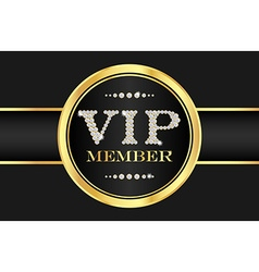 Vip member badge on black card vip composed from vector