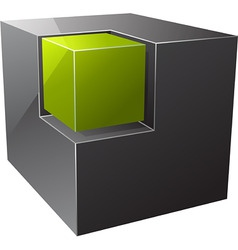 black cube vector image