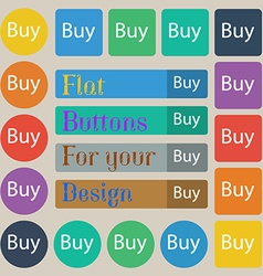 Buy sign icon online buying dollar usd button set vector