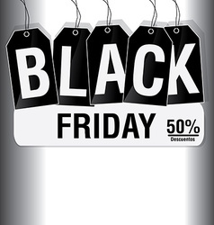 Black friday background vector