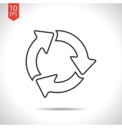 Three arrows icon vector