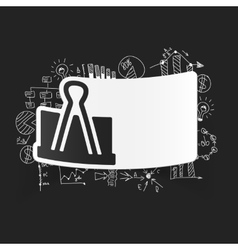 Drawing business formulas clip vector