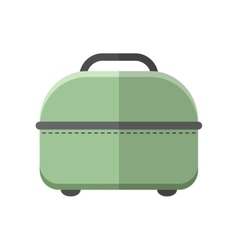 Travel bag Carry on baggage Flat color icon vector image