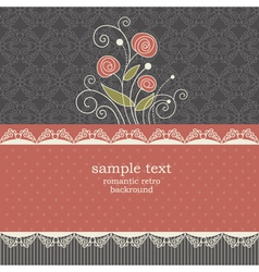 Vintage floral background vector