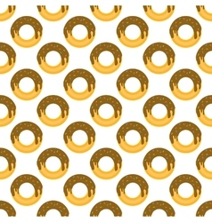 Donut pattern seamless vector image