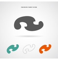 Geometry french curve icon vector