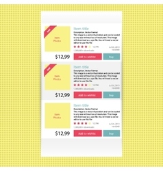 Abstract modern flat infographics options banner vector