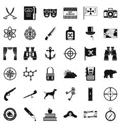 Binoculars icons set simple style vector