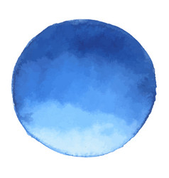 Bright dark blue watercolor banner blot vector