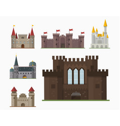 cartoon fairy tale castle tower icon cute vector image