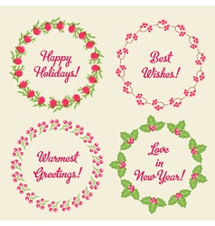 Christmas Whreaths vector image