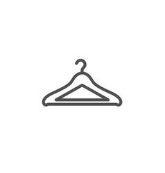 Cloakroom line icon hanger wardrobe sign vector