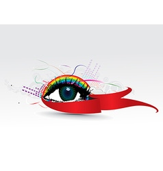 colorful eye vector image vector image