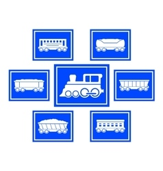 concept train icons vector image